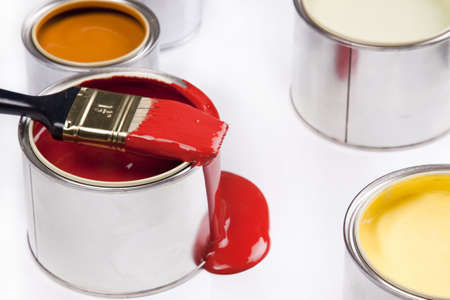 Composition of paint Stock Photo - 4929115