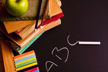 Exhibition of school. Back to school Stock Photo