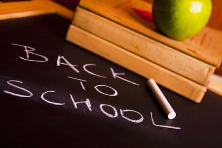 Exhibition of school. Back to school Stock Photo