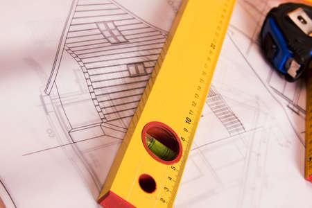 Renovation plan    Stock Photo
