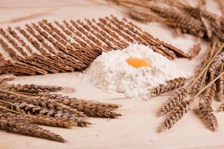 Bread and its components   Stock Photo