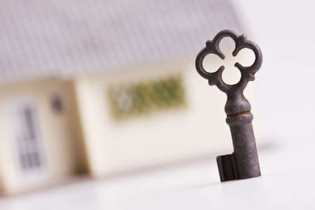 The key to the house Stock Photo