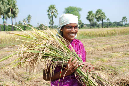 sweltering: Content,educated female farmer of rural India Editorial