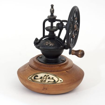 antique coffe grinder