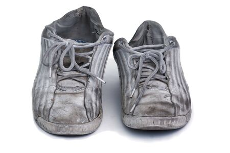 worn: very worn sneakers Stock Photo