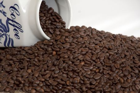 coffee beans and jar photo