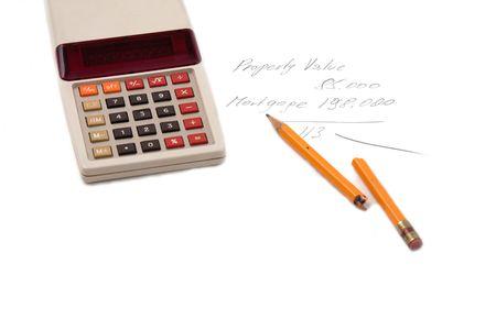upside down mortgage calculator Stock Photo - 7638571