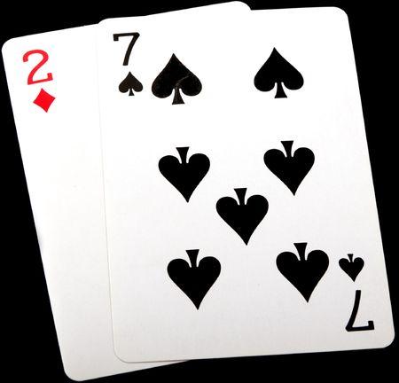 seven deuce, worst starting hand in texas holdem poker photo