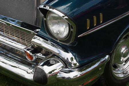 front of a classic car with headlight and fender Stock Photo - 9635417