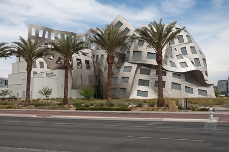LAS VEGAS NEVADA - June 1: Modernist architect Frank Gehrys creation The Cleveland Clinic Lou Ruvo Center for Brain Health  on June 1, 2011 in Las Vegas Nevada. Frank Owen Gehry,born Frank Owen Goldberg; February 28, 1929) is a Canadian American Pritzk