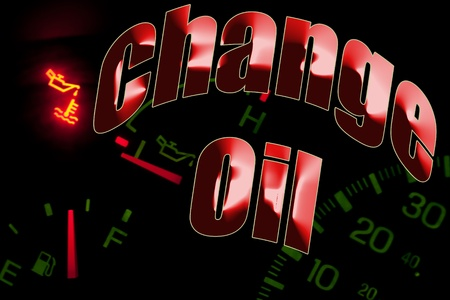 Change oil service engine light Stock Photo