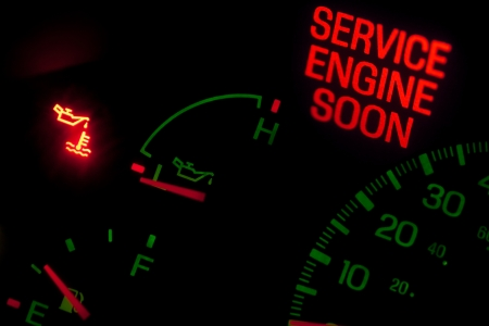 Service engine soon light on dashboard Stock Photo - 11699567