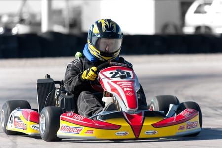 LAS VEGAS NEVADA - February 04: Go Kart race at the Las Vegas Speedway on May 12, 2008 in Las Vegas Nevada. Stock Photo - 12160070
