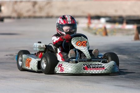 LAS VEGAS NEVADA - February 04:Junior Go Kart race at the Las Vegas Speedway on May 12, 2008 in Las Vegas Nevada.