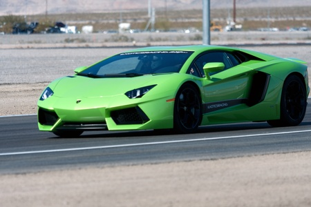 LAMBORGHINI AVENTADOR LP700 driving on race track