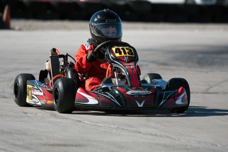 kart: LAS VEGAS NEVADA - February 04: Go Kart race at the Las Vegas Speedway on May 12, 2008 in Las Vegas Nevada.