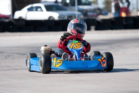 carting: LAS VEGAS NEVADA - February 04: Go Kart race at the Las Vegas Speedway on May 12, 2008 in Las Vegas Nevada.