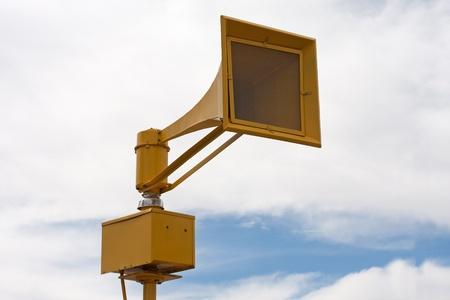 Tornado air raid tsunami siren on pole