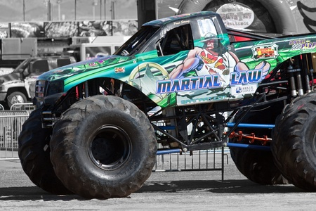 martial law: LAS VEGAS NEVADA - March 22: Martial Law Monster Truck on display for the Monster jam world finals at the Silver Bowl Stadium on March 22, 2012 in Las Vegas Nevada.