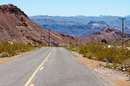 Nevada desert highway HDR Image Stock Photo - 13415452