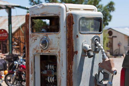 benzin: antique unrestored gas pump