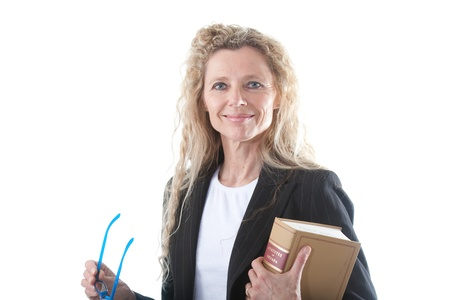 Female lawyer with glasses and law book Stock Photo - 14162030