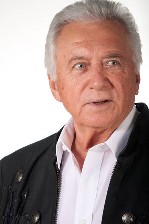 senior man in black country leather jacket Stock Photo - 14410136