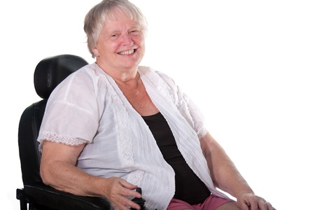 senior woman in wheel chair photo