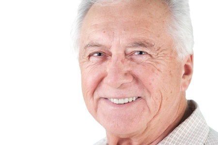 Senior mature man male portrait smiling photo