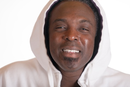 African American portrait in sweat siut with hood Stock Photo - 17445565