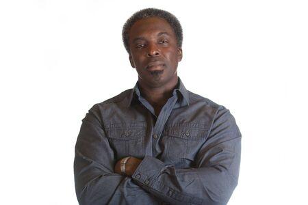 half body: black african american male half body Stock Photo
