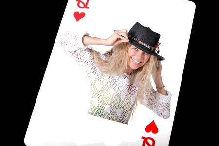 Queen of hearts with human femal woman Stock Photo - 17796580