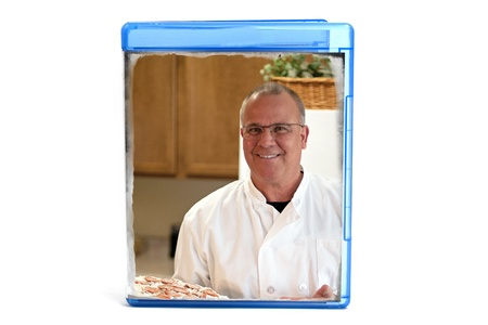 Blue DVD case, you can insert your own cover or text with picture