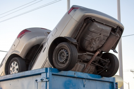 Junk cars in garbage cash for clunkers