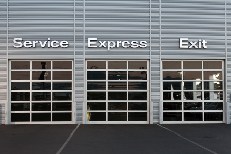 car dealership: Service station at car dealership