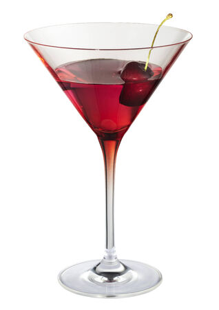 exempted: Cocktail with cherry red cocktail glass