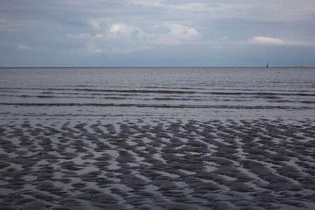 wadden: Low tide in the Wadden Sea Stock Photo