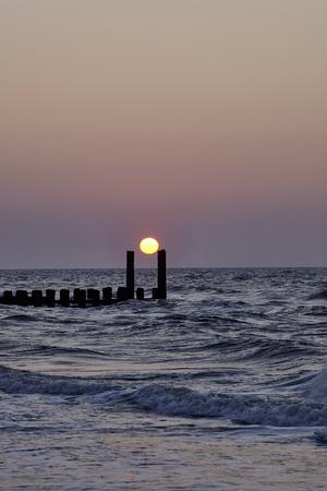 Sunset at the beach Stockfoto