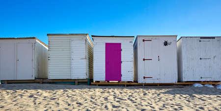 Beach stalls on the North Sea