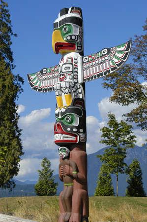 totem indiano: Un totem trovato in Vancouver Canada