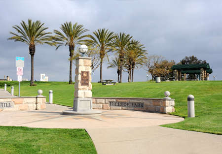 A park on the top of Signal Hill that overlooks the entire city of Long Beach all the way to L.A.