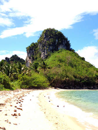 �rock formation�: amazing rock formation on a beach in quezon province philippines