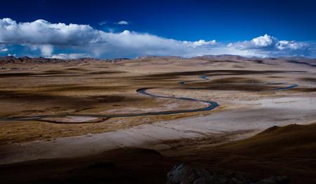 nourish: river at plateau Stock Photo