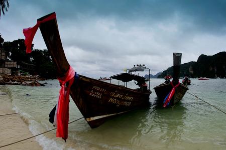 characteristic: Phuket Island characteristic fishing boat