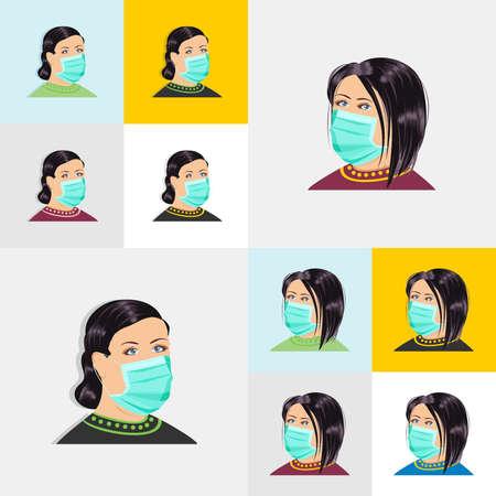 woman wearing mask - reduce the risk of corona virus / flu