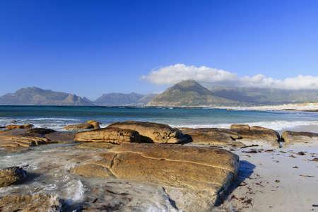 Rocky beach in Cape Town