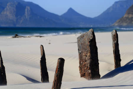 Shipwreck abstract with mountains near Cape Town Stock Photo - 12202695