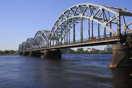 Main Railway Bridge across the river Daugava - Riga - Landscape