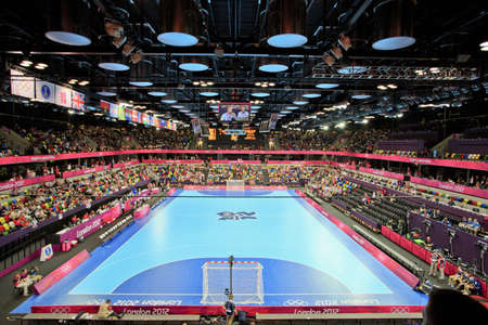 LONDON, ENGLAND - JULY 28  Copper Box ahead of the GB vs  Montenegro Womens Handball game on July 28, 2012 in London, England