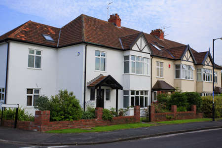 Typical 1930s semi detatched house with Bay Window, in Bristol, England